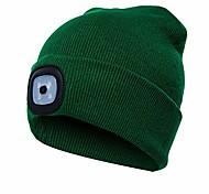 abordables -Bonnet unisexe à 4 LED, chapeau de lampe à piles éclairé mains libres ultra-lumineux pour camping en plein air, pêche à pied, randonnée (vert foncé)