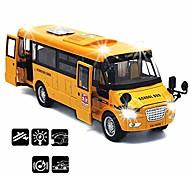 abordables -autobus scolaire jouet véhicules moulés sous pression jaune grand alliage tirez le bus de jeu de 9 `` avec sons et lumières pour les enfants