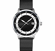 abordables -Mode hommes décontracté montres de mode design original montre hommes en acier maille montre pour hommes horloge relogio masculino montre-bracelet résistant à l'eau