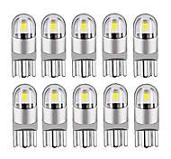 abordables -10 pcs 2020 Nouveau T10 W5W WY5W 168501 2825 COB LED Voiture Coin Parking Lumière Côté Porte Ampoule Instrument Lampe Auto Plaque D'immatriculation Lumière