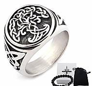 abordables -Acier inoxydable yggdrasil arbre de vie anneau celtique bijoux protection irlandais triquetra accessoires hommes femmes