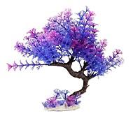 abordables -27cm violet violet arbre incurvé plantes en plastique artificielles de haute qualité aquarium poissons tortues réservoir décorations de haute qualité