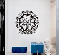 abordables -personnalité créative arbre de vie culture de mandala yoga décoration de fond de maison peut être enlevé autocollants 56 * 57cm