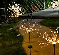 abordables -guirlande de pissenlit à énergie solaire led extérieure 2x 1x 120 leds fée lumière de noël pour la maison jardin rue cour pelouse éclairage de décoration colorée noël nouvel an lampe de fête extérieur