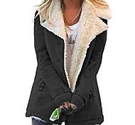 economico -donna faux camoscio cerniera risvolto in pile sherpa foderato giacca moto biker cappotto caldo inverno outwear verde piccolo