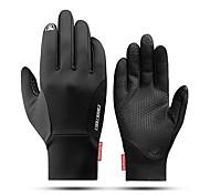 abordables -CoolChange Gants Tactiles Antidérapant Coupe Vent Chaud Fitness Doigt complet Gants sport Noir pour Activités Extérieures Multisport Cyclisme / Vélo