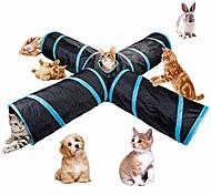 economico -Tunnel per gatti a 4 vie, grande tubo per tunnel pieghevole per animali domestici pieghevole per interni all'aperto con custodia per gatto, cane, cucciolo, gattino, gattino, coniglio # 81266