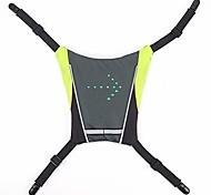 abordables -gilet haute visibilité, sac à dos réfléchissant de cyclisme, indicateur de signal lumineux télécommande led gilet de lumières de vélo, pour la randonnée en plein air camping vélo