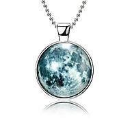 abordables -collier de lune lueur dans le collier de fée magique sombre pour femmes filles (style3)