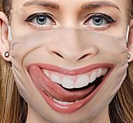 abordables -5 pièces masques noirs personnalité expression du visage masques drôles masques en coton anti-poussière masques imprimés