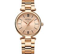 economico -orologi al quarzo semplici di lusso da donna orologio da polso impermeabile retrò per donna donna oro