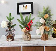 abordables -noël décoration de la maison simulation arbre de noël bureau mini simulation simple ensemble de fleurs accessoires photo