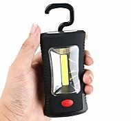 abordables -Crochet pliant magnétique portable lampe d'inspection de travail lampe de poche torche lanterna camp tente lampe de poche aaa porte-clés, torche magnétique