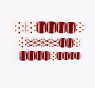 economico -bianco e rosso nuova serie geometrica unghie finte finito nail art patch unghie finte che indossano nail art nail patch color nail patch 24 pezzi