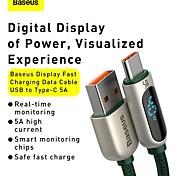 economico -BASEUS USB C Cavi Alta velocità Carica rapida Trasmissione dati 5 A 1.0m (3 piedi) PVC Per Xiaomi MI Samsung Huawei Appendini per cellulare
