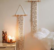 abordables -Tenture murale en macramé tissé à la main ornement bohème boho art décor maison chambre salon décoration nordique à la main gland feuille de coton