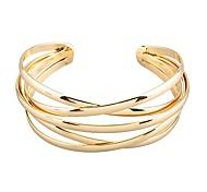 economico -bracciale rigido aperto polsino stile oro taglia unica