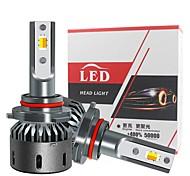 abordables -2 pcs H4 Tricolore Auto LED Phare Antibrouillard H7 H4 H1 H11 9005 9012 Ampoule De Phare De Voiture 3000 K 4300 K 6000 K All-in One Headights