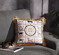abordables -Tendance marque lumière luxe velours gland double face impression taie d'oreiller couverture salon chambre canapé housse de coussin