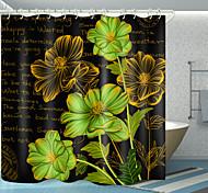 economico -fiori stampa digitale inglese tenda da doccia tende da doccia ganci moderno poliestere nuovo design
