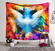 abordables -Tapisserie murale art décor couverture rideau suspendu maison chambre salon décoration polyester fibre peint ailes rêve orchidée pavillon conception
