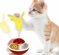 economico -cat toy funny spring bell interactive tumbler toy cat teaser toy