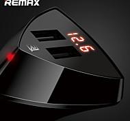 economico -caricabatteria da auto remax rcc208 dual usb caricatore rapido del telefono cellulare display di tensione a led