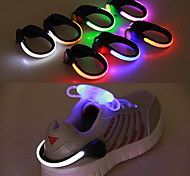 abordables -clip de chaussures à LED, équipement de sécurité réfléchissant avec 2 modes pour le jogging, la marche et le camping de nuit pour femmes hommes garçons filles de 2 pack (blanc)
