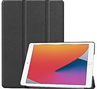 economico -telefono Custodia Per Apple Integrale iPad 8 (2020) 10.2 '' Resistente agli urti Origami Tinta unita pelle sintetica