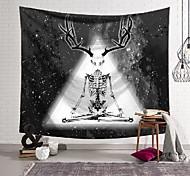 abordables -Tapisserie murale art décor couverture rideau suspendu maison chambre salon décoration crâne bois polyester