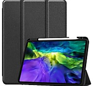 economico -telefono Custodia Per Apple Integrale iPad Pro (2018) 12,9 pollici Resistente agli urti Origami Tinta unita pelle sintetica