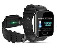abordables -A6S Montre intelligente avec bracelet pour Android iOS Samsung Apple Xiaomi Bluetooth 1.3 pouce Taille de l'écran IP68 Niveau imperméable Imperméable Ecran Tactile Moniteur de Fréquence Cardiaque