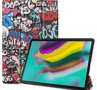 economico -telefono Custodia Per Samsung Galaxy Integrale Galaxy Tab A 8.4 (2020) Samsung Tab A8 (2019) P200 / 205 Resistente agli urti Origami Cartoni animati pelle sintetica