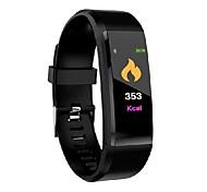abordables -ID115 PLUS Montre intelligente avec bracelet pour Android iOS Samsung Apple Xiaomi Bluetooth 0.49 pouce Taille de l'écran IPX-3 Niveau imperméable Imperméable Ecran Tactile Moniteur de Fréquence