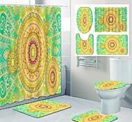 abordables -motif de mandala impression salle de bain rideau de douche toilettes de loisirs conception quatre pièces