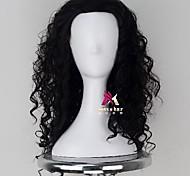 abordables -Perruque Synthétique Maui Moana Bouclé Coupe Asymétrique Perruque Longue Noir Cheveux Synthétiques 18 pouce Homme Confortable Duveteux Noir