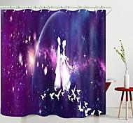 abordables -Valentin couple pie pont impression numérique rideau de douche rideaux de douche crochets polyester moderne nouveau design
