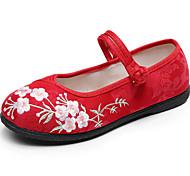 abordables -Femme Chaussures de danse Chaussures Modernes Plate Talon Plat Noir Rouge Beige Boucle Adulte