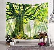 abordables -Tapisserie murale art décor couverture rideau suspendu maison chambre salon décoration vert forêt grand arbre polyester