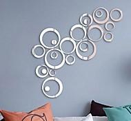 economico -creativo cerchio punto fai da te combinazione acrilico specchio adesivo da parete tv soggiorno sfondo decorazione murale murale