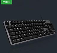 economico -xiaomi 600k tastiera meccanica cablata usb gaming tasti retroilluminati bianchi 104 pezzi