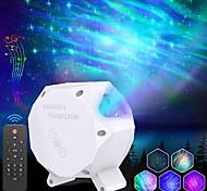 abordables -star projectordelicacy projecteur de galaxie aurora lumière ciel étoilé projecteur de lumière de nuitbluetooth haut-parleur de musique avec veilleuse à led rotative pour le cinéma maison enfants