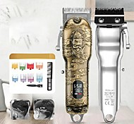 abordables -nouvelle tête d'huile rétro tondeuses électriques lcd affichage numérique tondeuse à cheveux salon de coiffure professionnel tondeuse électrique haute puissance rechargeable