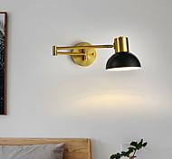 abordables -LED applique murale moderne style nordique noir or bras oscillant lumières salon chambre en alliage d'aluminium applique murale 110-120v 220-240v