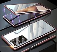 economico -telefono Custodia Per Samsung Galaxy Integrale Custodia ad adsorbimento magnetico S20 Plus S20 Ultra S20 Note 20 Ultra Note 20 Resistente agli urti A calamita Doppia setola Tinta unica Vetro