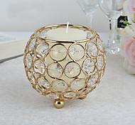economico -candeliere di cristallo candela in metallo tazza sito di nozze decorazione cena a lume di candela accessori candeliere