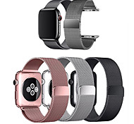 economico -Cinturino intelligente per Apple  iWatch 1 pcs Cinturino a maglia milanese Acciaio inossidabile Sostituzione Custodia con cinturino a strappo per Apple Watch Serie 6 / SE / 5/4 44 mm Apple Watch