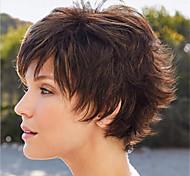 abordables -6 pouces nouveau produit perruques dames tempérament brun d'âge moyen et à l'ancienne perruque de cheveux bouclés courts coiffures