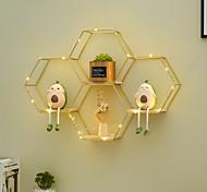abordables -décoration étagère murale salon salle à manger thé magasin de vêtements fond mur combinaison créative décoration murale