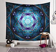 abordables -tapisserie murale art déco couverture rideau suspendu maison chambre salon dortoir décoration fibre de polyester couleur violet bleu géométrique motif symétrique orchidée conception de pavillon